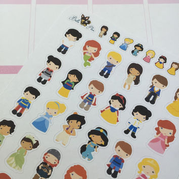 Disney Couples Planner Stickers ~ Disney Inspired | Life Planner | EC | Erin Condren | Limelife | Inkwell | Plum | Kikki | Decorative |Movie