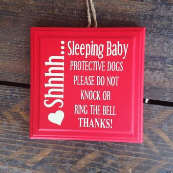 Shh! Sleeping Baby Sign