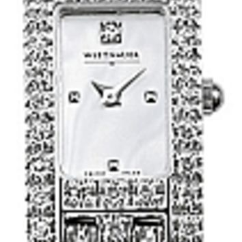 Wittnauer Krystal Collection Women's Mother of Pearl Bracelet Watch 10L06