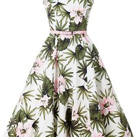 Hepburn Dress - Hibiscus Floral