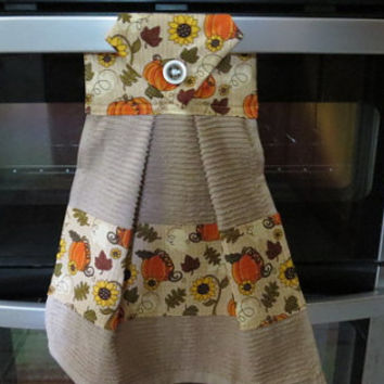 Kitchen Towel, Hanging Dish Towel, Tie Towel,Hanging Tea Towel, Hanging Hand