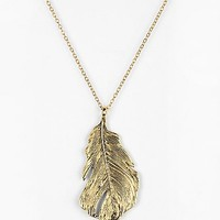 Sculpted Feather Necklace - Urban Outfitters