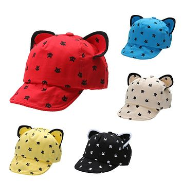 2e55cdd52b1 Fashion Baby Hats Ears Beard Stars Animal Cat Cartoon Newborn Ca