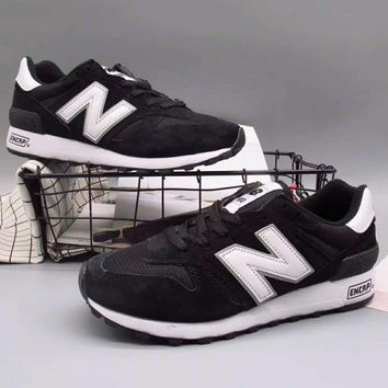 New balance Fashion Casual All-match N Words Breathable Couple Sneakers Shoes Black G-A36H-MY