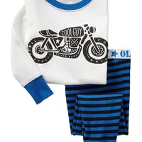 Motorcycle-Graphic PJ Sets for Baby
