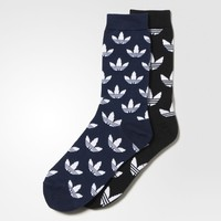adidas Thin Graphic Crew Socks 2 Pairs - Black | adidas US
