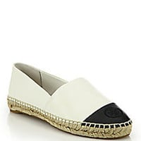 Tory Burch - Colorblock Leather Espadrille Flats - Saks Fifth Avenue Mobile