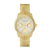 Michael Kors Quartz Mother of Pearl Dial Horn Band - Women's Watch MK5400