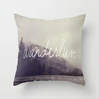 Wanderlust Throw Pillow by Christine Hall