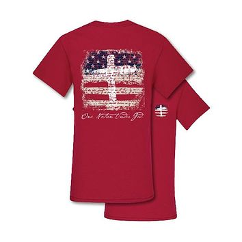 Southern Couture Preppy One Nation USA America T-Shirt