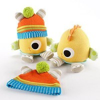 Clyde the Closet Monster Knit Baby Hat and Plush Toy Gift Set  - Available Mid-Feb.