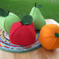 Felt Food Fresh Fruits - Choose 3