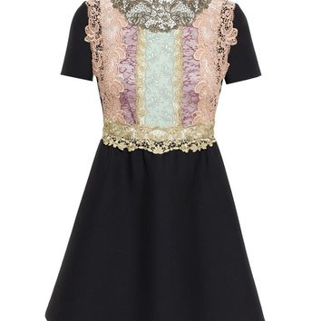 High Neck Lace Dress - VALENTINO