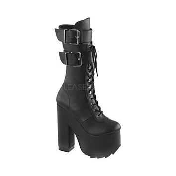 Women's Demonia Cramps 202 Boot Black Vegan Leather | Overstock.com Shopping - The Best Deals on Boots