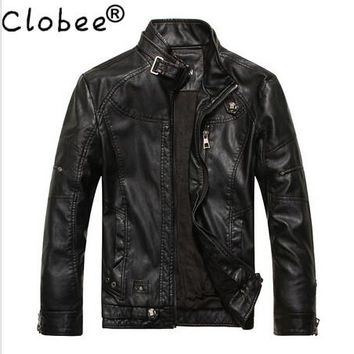2017 Retros Spring Leather Jacket Men Jaqueta Couro Masculino Bomber Leather Jacket Sheepskin Coat Motorcycle Jacket Y682