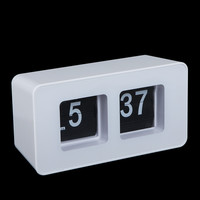 White Auto Flip Desk Clock