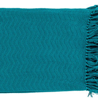 Thelma 50 by 60 inches Woven Cotton Throw - Home Decor | Surya