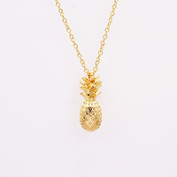 Designer Pineapple Pendant Necklace for Women