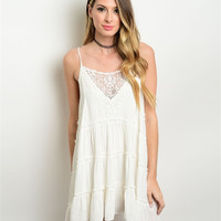 Willow White Lace Smocked Boho Dress