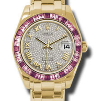 Rolex - Datejust Pearlmaster 34 Yellow Gold - 36 Pink Sapphire Bezel