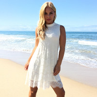 Next To You Lace Dress In Ivory