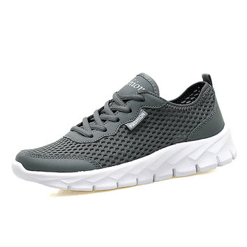 Big Size 39-48 Men Casual Shoes Summer Breathable Men Shoes Fashion Designer Lace Up Tenis Shoes Outside Walking Shoes