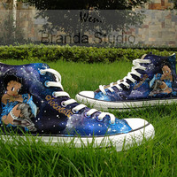 Galaxy shoes,Betty Boop Shoes,Studio Hand Painted Shoes 59.99Usd,Paint On Custom Converse Shoes Only 99Usd,Buy One Get One Phone Case Free