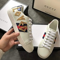 Gucci : Ace Embroided Low-Top Sneaker