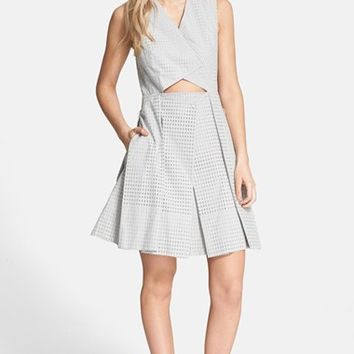 Women's Tibi 'Riko' Eyelet Origami Dress