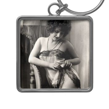 Lovely in Lace Vintage Pin-Up Keychain