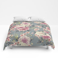 Pink floral Comforters by Knm Designs