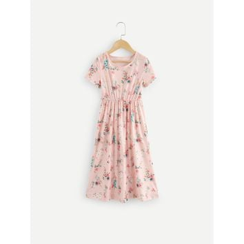 Kids Calico Print Dress