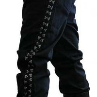 Attitude Punk Canvas Jeans - Mens gothic, industrial and cyber pants.