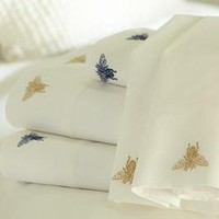 Bee Embroidered Sheet Set | Pottery Barn