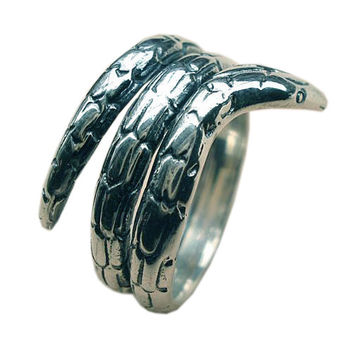 SIZE 7.5 Coiled Snake Ring Guy's Jewelry Cool Men's Apparel