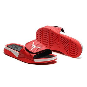 Nike Jordan Hydro V Retro Red/Black Sandal Sandals Slipper Shoes Size US 7-11