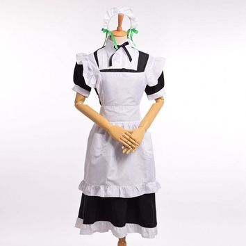 Nozomi Tojo Lolita Maid Dress Apron Anime Love Live Cosplay Lady Costume