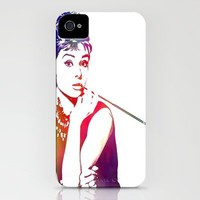 Audrey Hepburn Breakfast at Tiffany's iPhone Case by D77 The DigArtisT | Society6