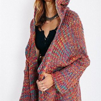 VONEFC2 Rainbow Knit Cardigan
