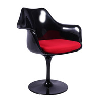 MIchael Anthony Furniture Mid Century Modern Indoor/Outdoor Chair - Black/Red