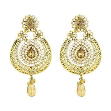 LMFXT3 VVS Jewellers Gold Plated Ethnic Indian Bollywood Style Traditional Women Earrings