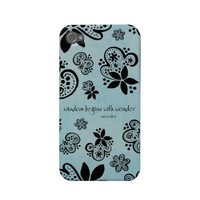 wisdom begins with wonder iphone case iphone 4 cases from Zazzle.com