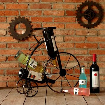 Imported Vintage Iron Bicycle Wine Rack FREE U.S. AND INTERNATIONAL SHIPPING*