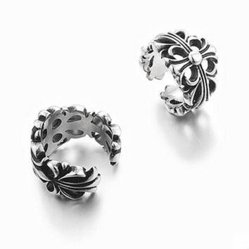 DCCK6HW Chrome Hearts' Personality Fashion Unisex Retro Ring Couple Titanium Steel Ring Tail Ring