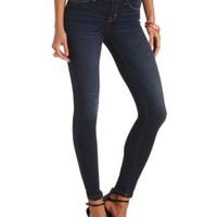 "Refuge ""Skin Tight Legging"" Dark Wash Skinny Jeans - Dark Wash Denim"