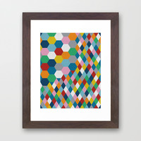 Honeycomb Framed Art Print by Project M