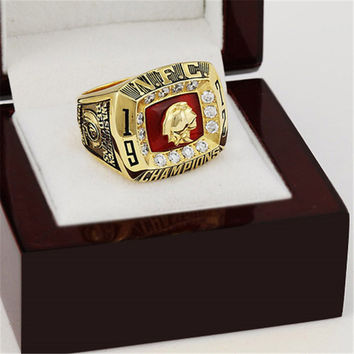 Washington Redskins Championship Ring 1972 Replica NFC Football Rings Antique Jewelry USA Men F