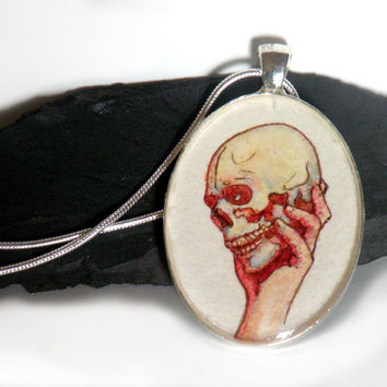 shakespeare jewelry hamlet yorick literary by curiouscatfish