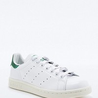 adidas Originals Stan Smith White & Green Trainers - Urban Outfitters