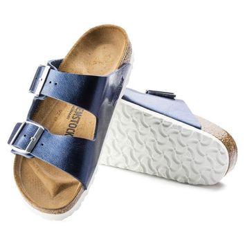Sale Birkenstock Arizona Birko Flor Graceful Sea 1006375/1006374 Sandals